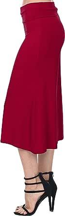 Nolabel Womens Plus Size Kint Palazzo Capri Culottes Gaucho Pants Wide Leg Fold Over Waistband (21Colors XS~5XL)