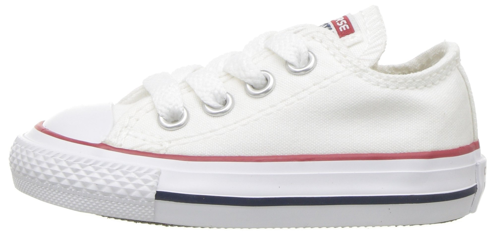 Converse Chuck Taylor All Star Canvas Low Top Sneaker, Optical White, 13.5 M US Little Kid by Converse (Image #5)
