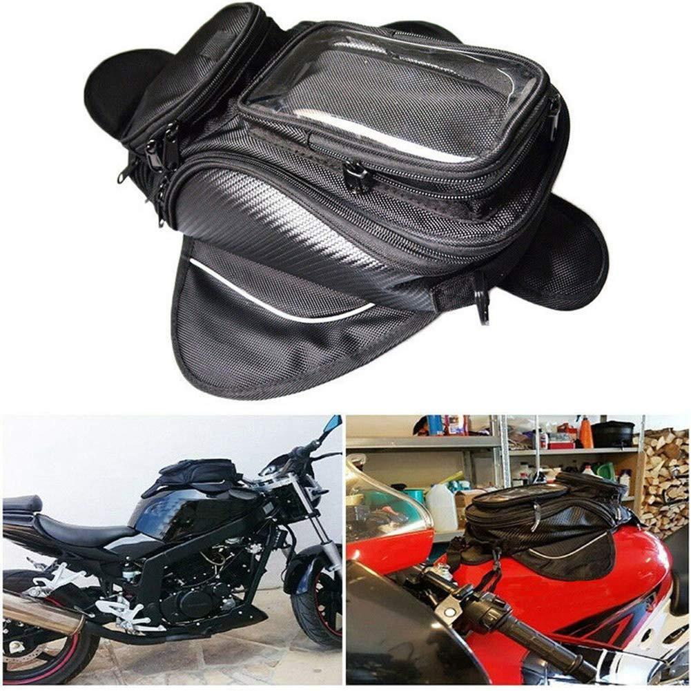 FUVOYA Bolsa del Tanque del Aceite de la Motocicleta Soporte del Tanque de la Motocicleta Accesorios del tel/éfono para Las Bolsas de la Bici Impermeable Sat navs