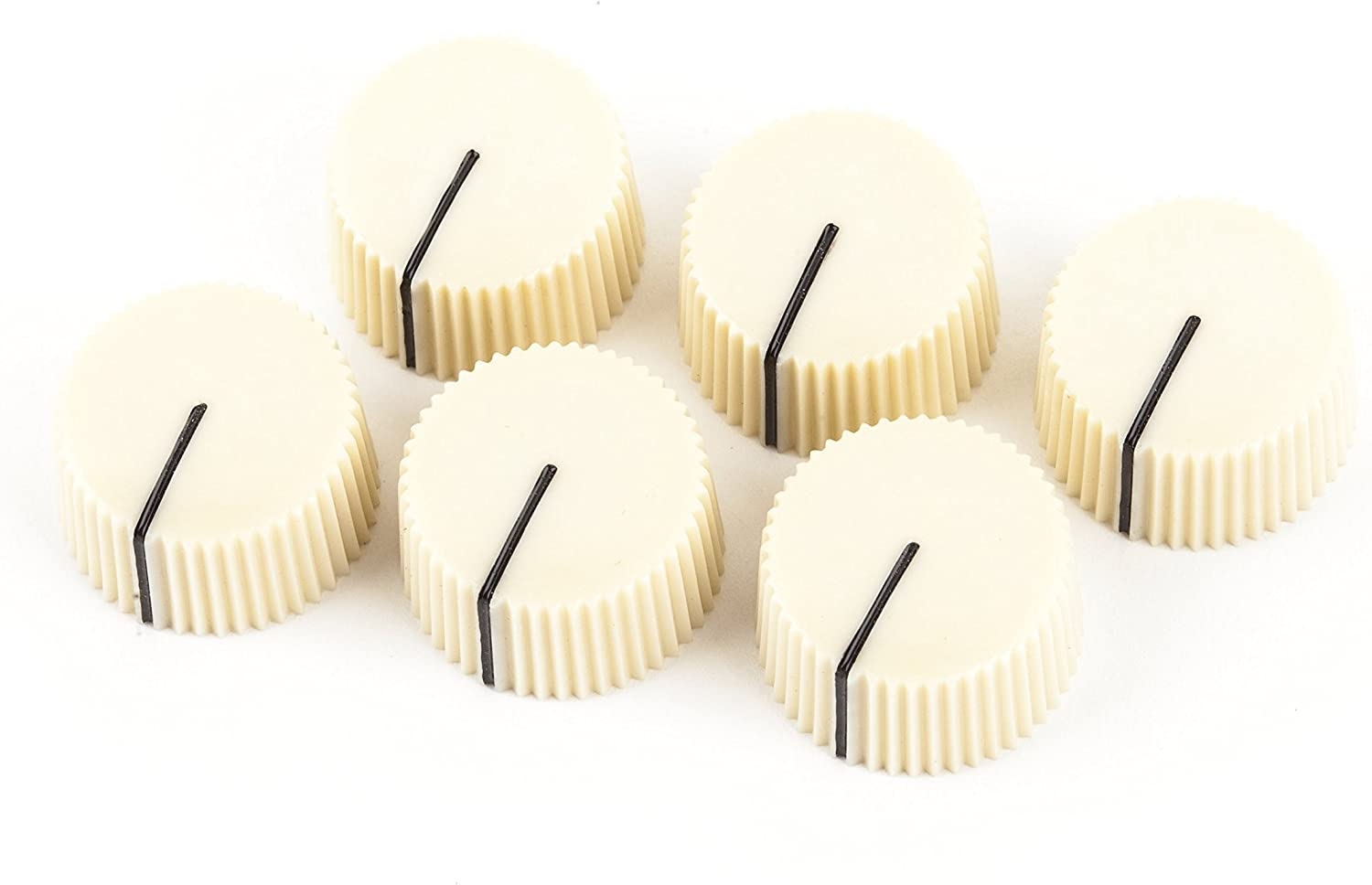 10x Cream Vintage Amp Style Knobs for guitar pedals