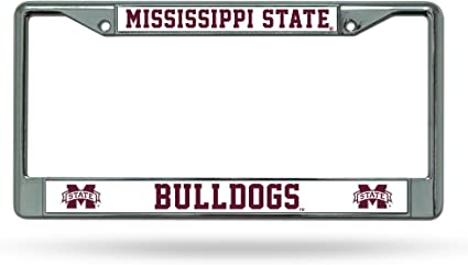 Rico Industries NCAA Mississippi State Bulldogs Standard Chrome License Plate Frame