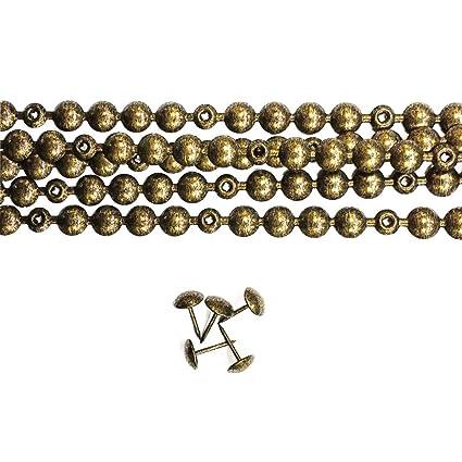 5 tiras de clavos color oro viejo 11mm con 18 clavos combinados, para tapiceria y reparacion de sillas