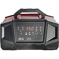 AEG 158009 Werkplaats-oplader WM ampère voor 6 en 12 volt batterijen, met autostart-functie, CE, IP 20, 15 A