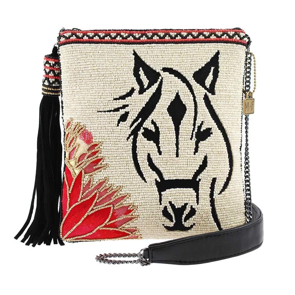MARY FRANCES Hoofing It Beaded Horse Crossbody Handbag