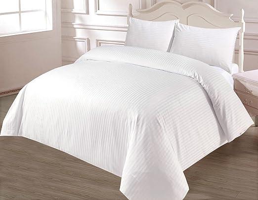 100% algodón egipcio 400 hilos doble funda nórdica Color Blanco ...