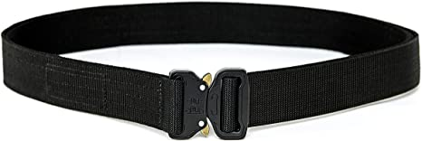 Military Style Nylon Webbing EDC Quick-Release Buckle CQR 1 or 2 Pack Tactical Belt Heavy Duty Belt