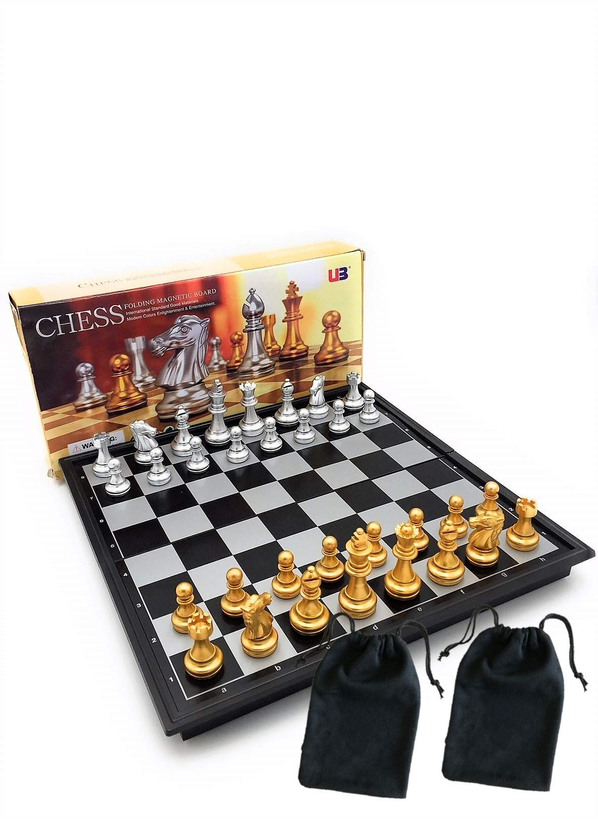 Chess Pro Chess Set, Magnetic Chess Set, Chess Board, Chess Pieces, Chess Sets for Adults Board Games 9.7 Inches by CHESS PRO