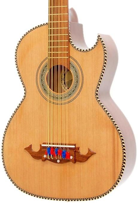 Paracho Elite Guitars Victoria-P - Guitarra acústica eléctrica (12 ...