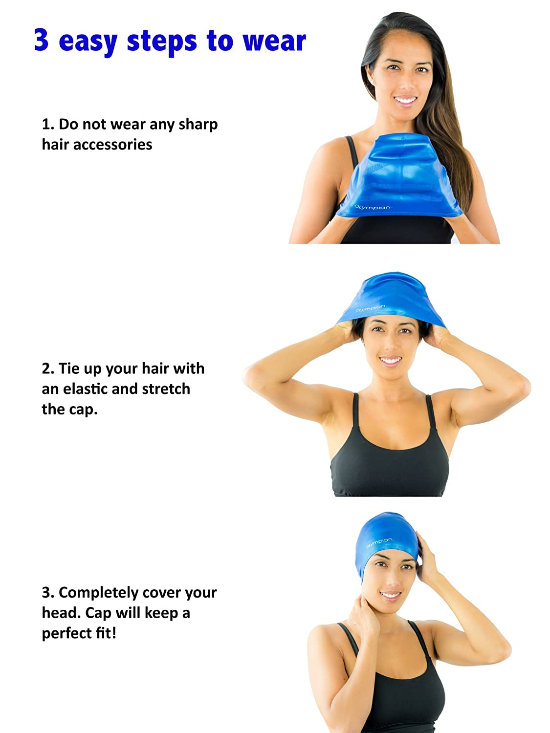 a01168717ea Long Hair Swim Cap - Swimming Caps for Women Men Girls Boys- Youth  Adult  Casual and Competitive Swimming - Silicone ...