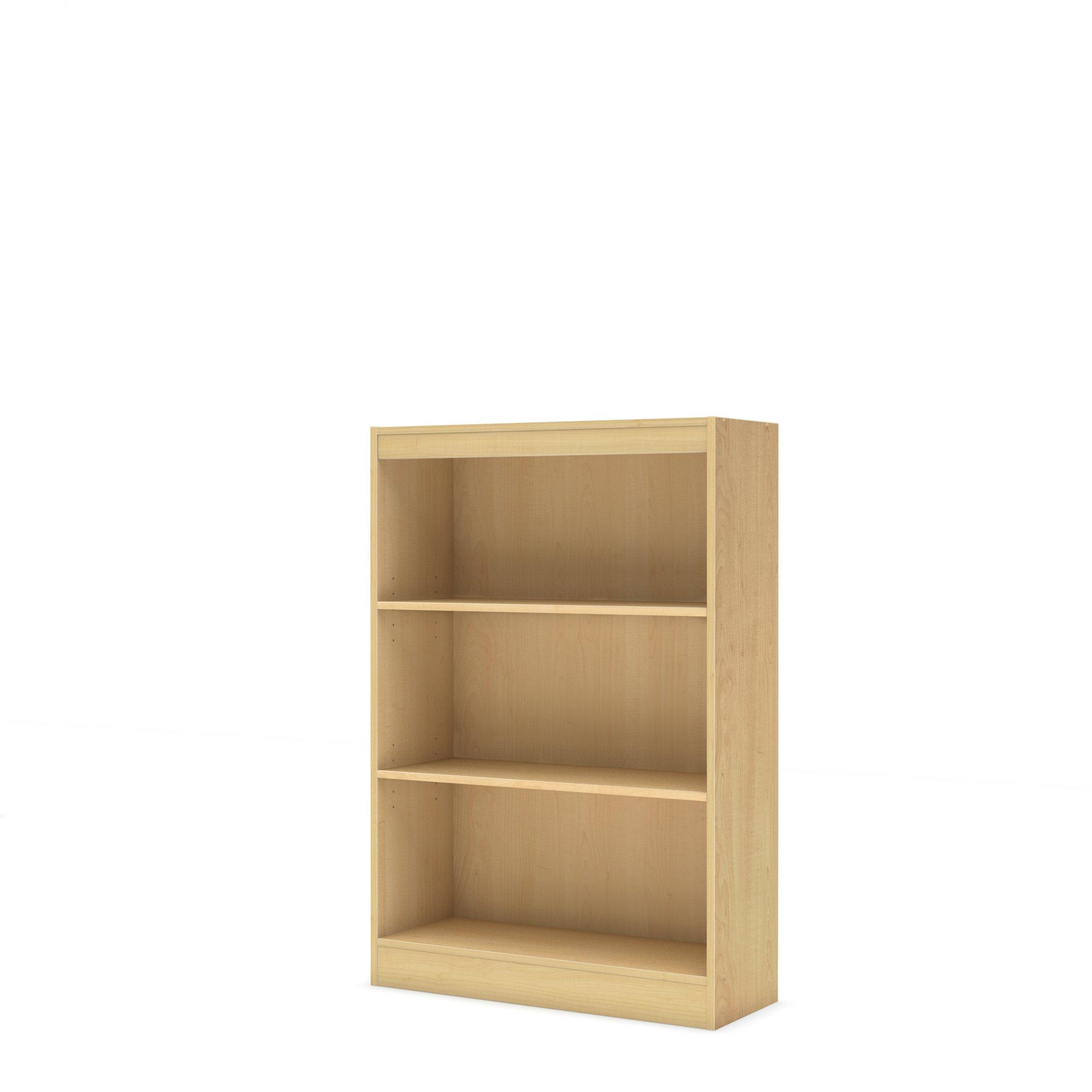 South Shore 3-Shelf Storage Bookcase, Natural Maple