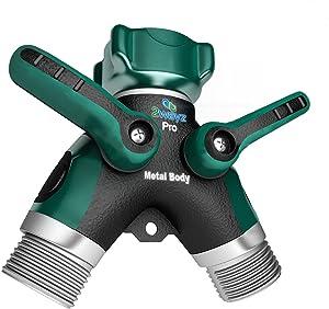 2wayz-Garden-Hose-Splitter-FULL-METAL-BODY-Y-Ball-Valve-Hose-Connector-Fits