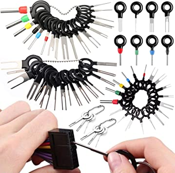 Wire Connector Terminal Pin Extractors Terminal Removal Tool Kit 39Pcs for Car Connector and Other Household Devices