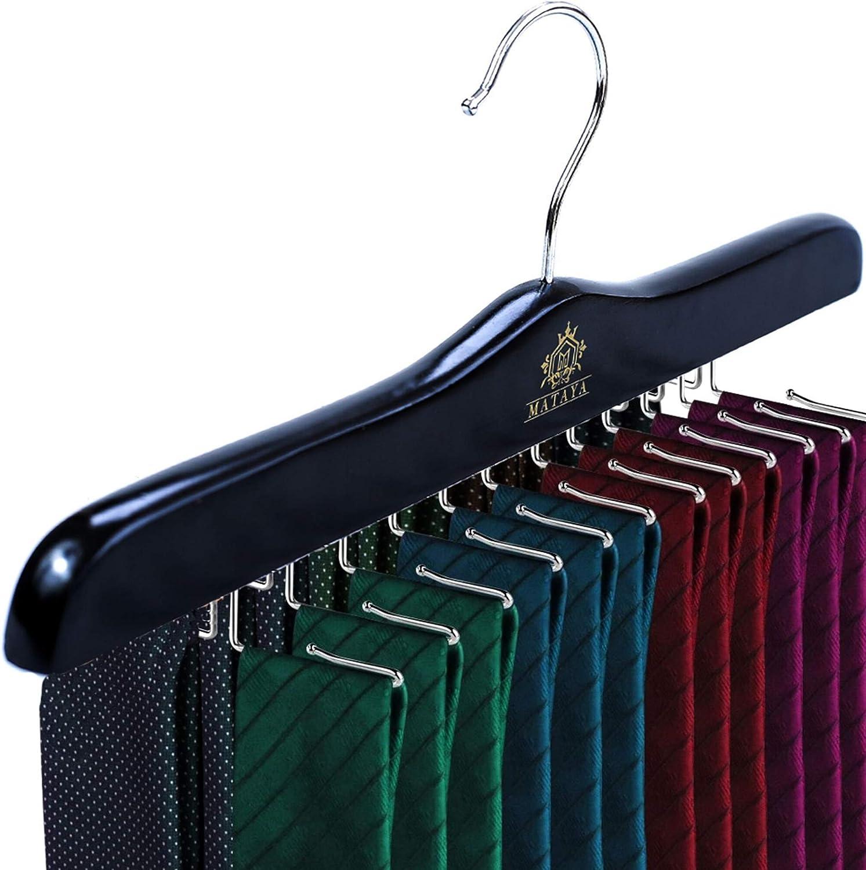 MATAYA - Organizador de Corbatas de Madera para 24 Corbatas, Color ...