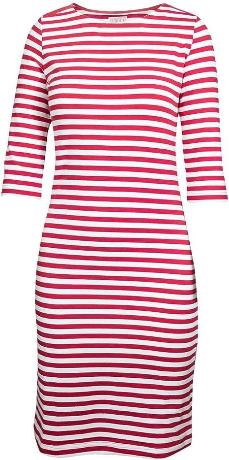 Brigitte Von Boch Damen Portola T Shirt Kleid Koralle Weiss Maritim Im Marine Look Amazon De Bekleidung