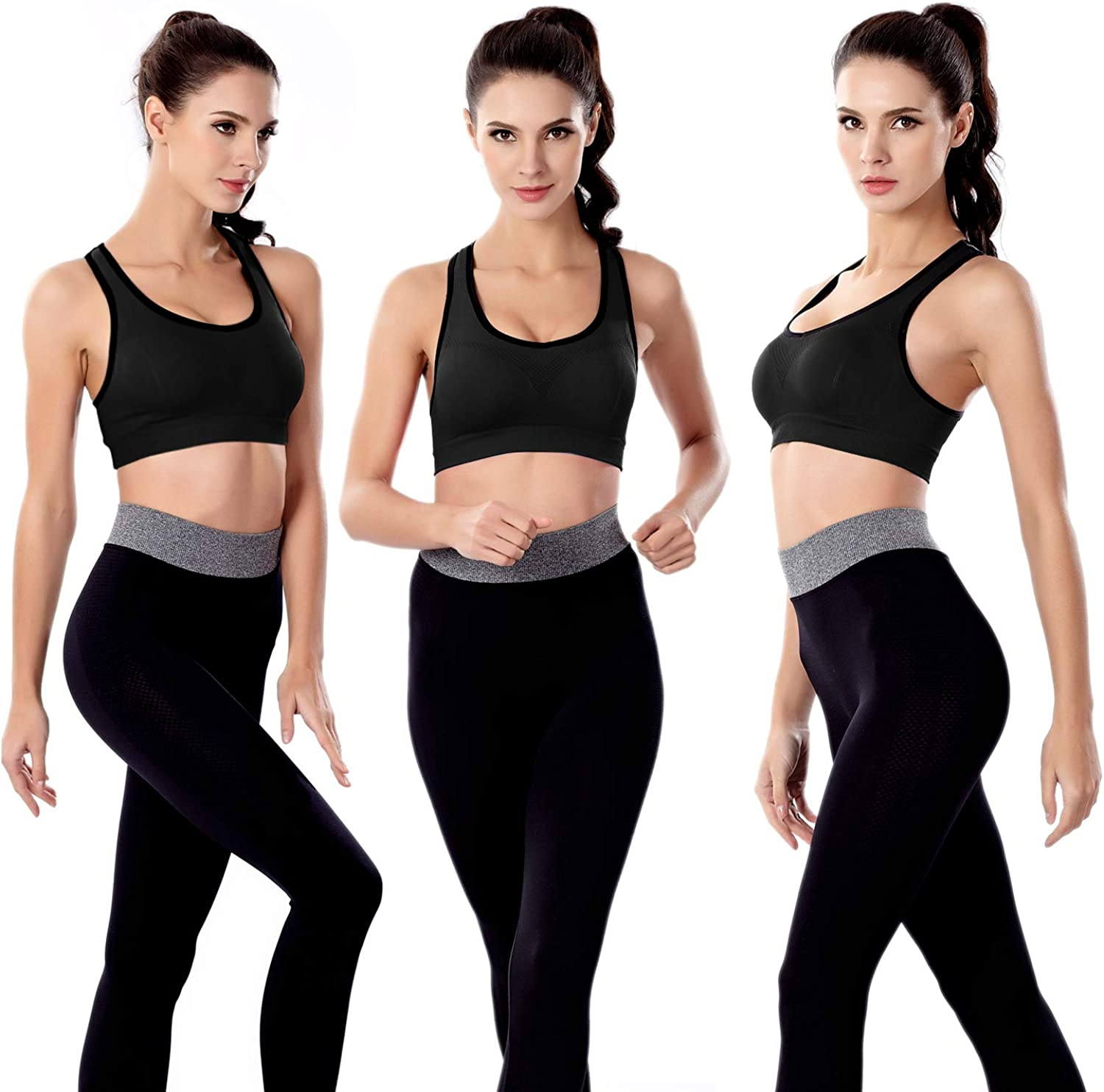 GXXGE Padded Racerback Sports Bras for Women High Impact Workout Yoga Gym Activewear Fitness Bra