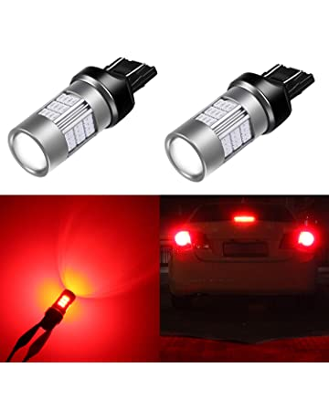 Alla Lighting T20 7440 7443 Red LED Bulbs Super Bright 4014 54-SMD LED 3057