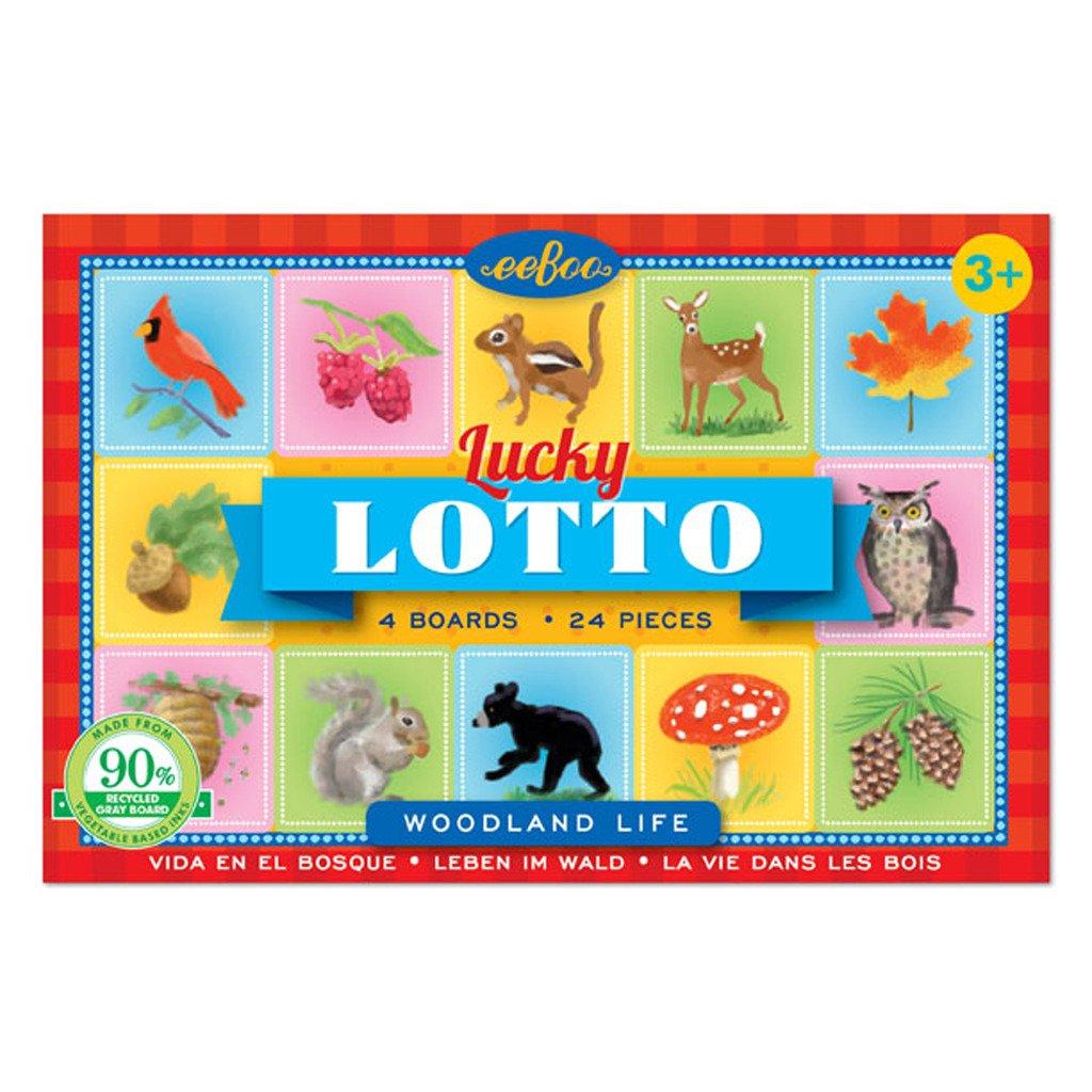 eeBoo Woodland Life Lucky Travel Lotto Bingo, Road Trip Travel Game for kids