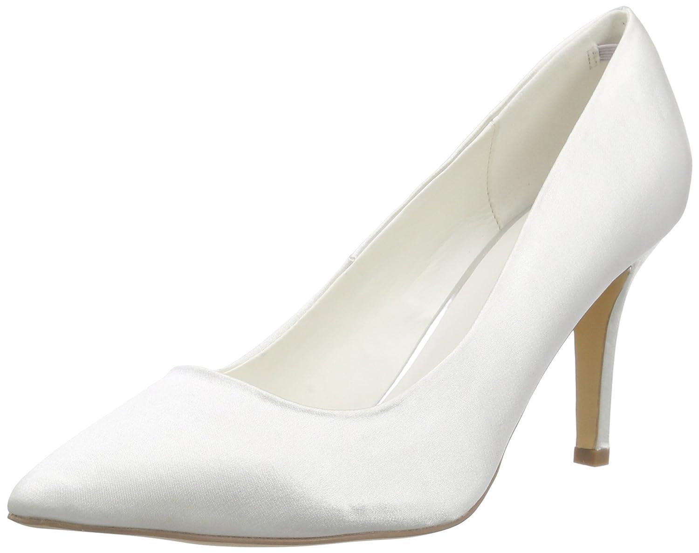 TALLA 39 EU. Menbur Wedding Agueda - Zapatos de tacón Cerrados de Raso Mujer