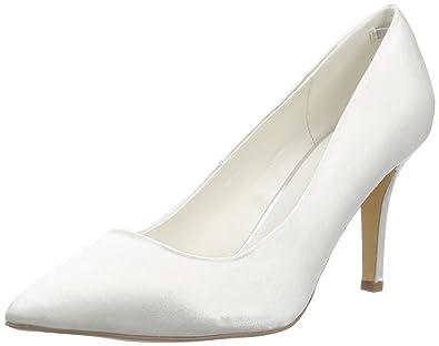 Menbur Wedding Agueda, Chaussures à Talons - Avant du Pieds Couvert Femmes - Blanc - Elfenbein (Ivory), Taille 38 EU