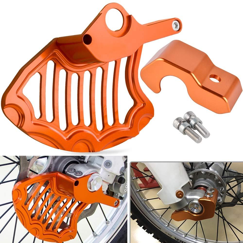 LIWIN-Motorradzubeh/ör Bremsscheibe vorne Schutz Gabelbein-Schutz For KTM 150 200 250 125 300 350 450 530 SX SXF EXC EXCF XC XCF XCW XCFW EXCR MXC SMR Color : Brake Disc Guard