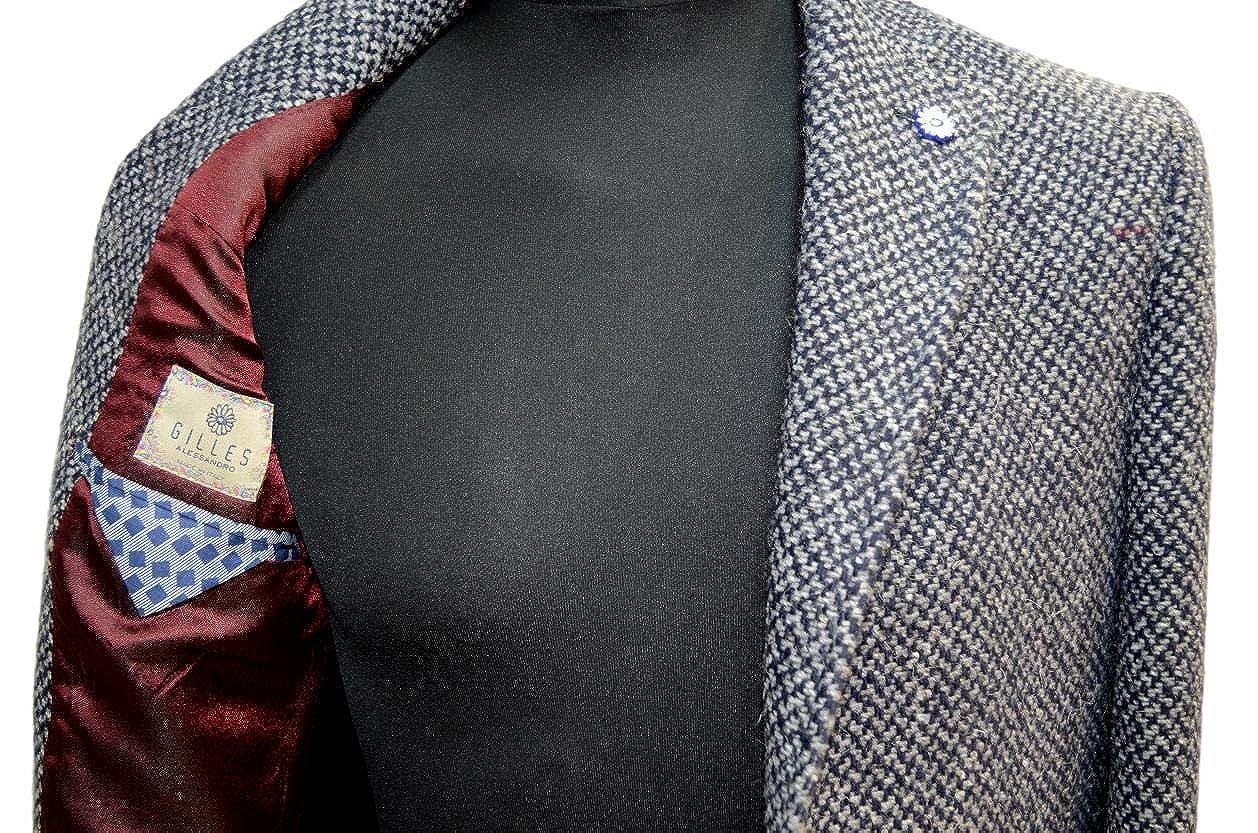 Alessandro Gilles CAPPOTTO UOMO SLIM FIT GRIGIO MICROFANTASIA ART. 2572  Taglia 52  Amazon.it  Abbigliamento 6d20685d922
