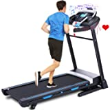 ANCHEER Treadmill, 3.25HP Folding Treadmills for Home with APP Control and Automatic Incline, Running Walking Jogging…