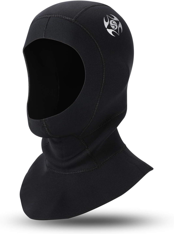 Capucha de Buceo de Neopreno de 3 mm con ventilaci/ón de Flujo para Eliminar el Aire Atrapado Gorra de Surf Unisex Surf Trajes de Neopreno para Snorkel y Otros Deportes acu/áticos Qkurt Snorkel Hat