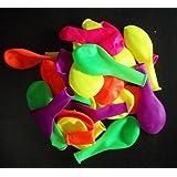 100 NEON-Farben-bunt-Luft-Ballons-leuchtend-Feier-Deco-Geburtstag-Hochzeit-Fete-Helium-geeignet EU Ware Naturlatex vom Sachsen Versand