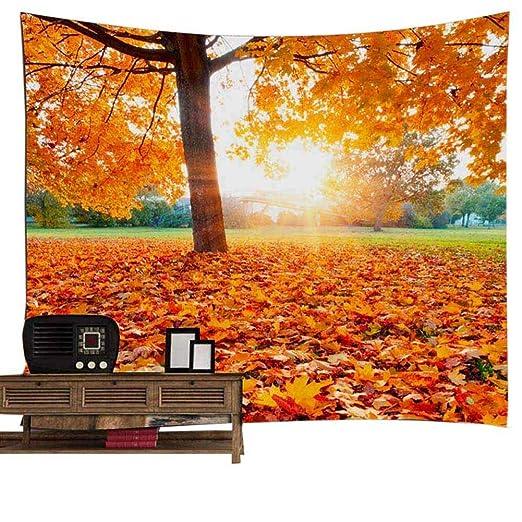 Bosque tapiz decoración de la pared, otoño bosque antiguo ...