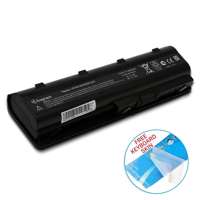 Enegitech HP Laptop Battery Replacement for 593553-001 593554-001 MU06 MU09 G32 G42 G42T G56 G62 G72 G4 G6 G6T G7 Compaq Presario CQ32 CQ42 CQ43 CQ430 CQ56 CQ62 CQ72 DM4 DV3 DV5, 10.8V 4400mAh