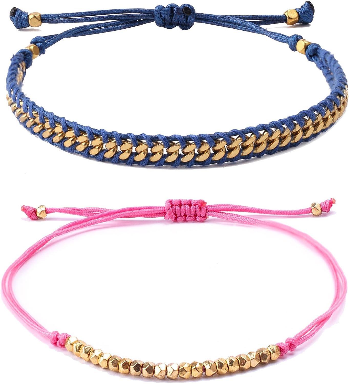 VEINTI+1 Natural Semi-precious Stone Beaded Bracelet with Half Chain Unique Design Accessory for Women//Girl