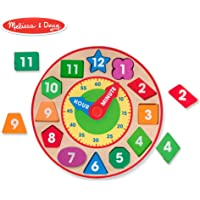 Melissa & Doug Shape Sorting Clock (2013),Multi Color