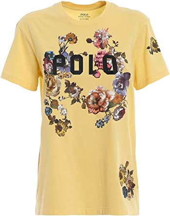 Polo Ralph Lauren flrl Big t-Short Sleeve-Knit Giallo Donna XXS ...