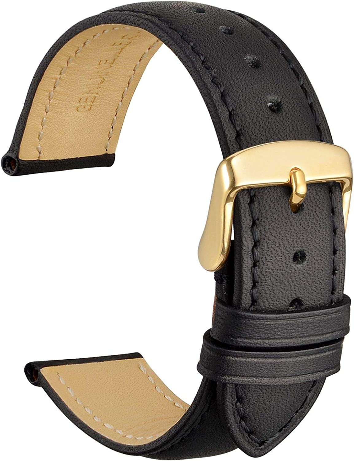 WOCCI Watch Band 14mm 16mm 18mm 19mm 20mm 21mm 22mm 23mm 24mm - Vintage Leather Watch Strap,Choice of Color and Width