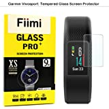 Fiimi Garmin Vivosport Smart Watch Screen Protector - Fiimi Tempered Glass Screen Protectors For Garmin Vivosport Smart Watch,9 H Hardness,0.3mm Thickness,Made From Real Glass