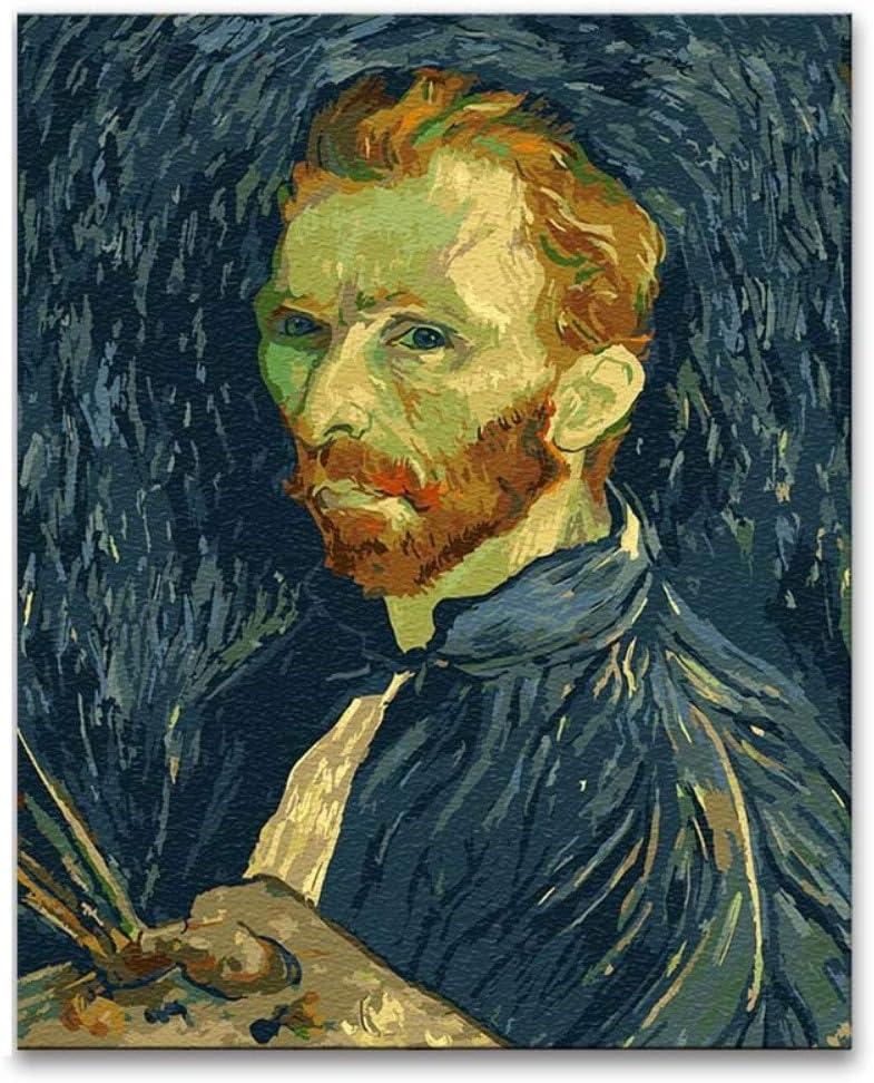 Diy Pintura por números Pinturas de Vincent van Gogh en la noche ...