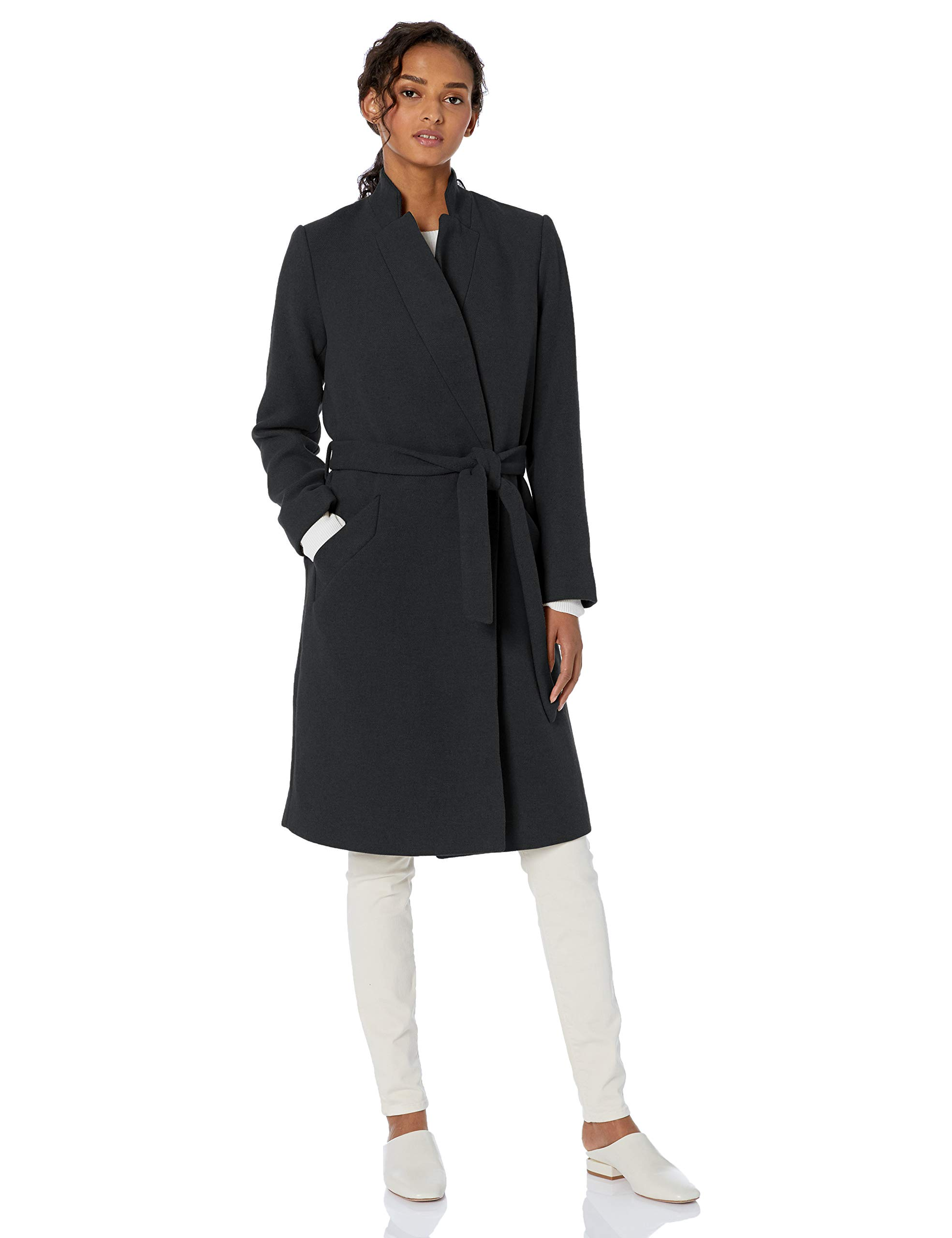 Amazon Brand - Daily Ritual Women's Wool Blend Belted Coat