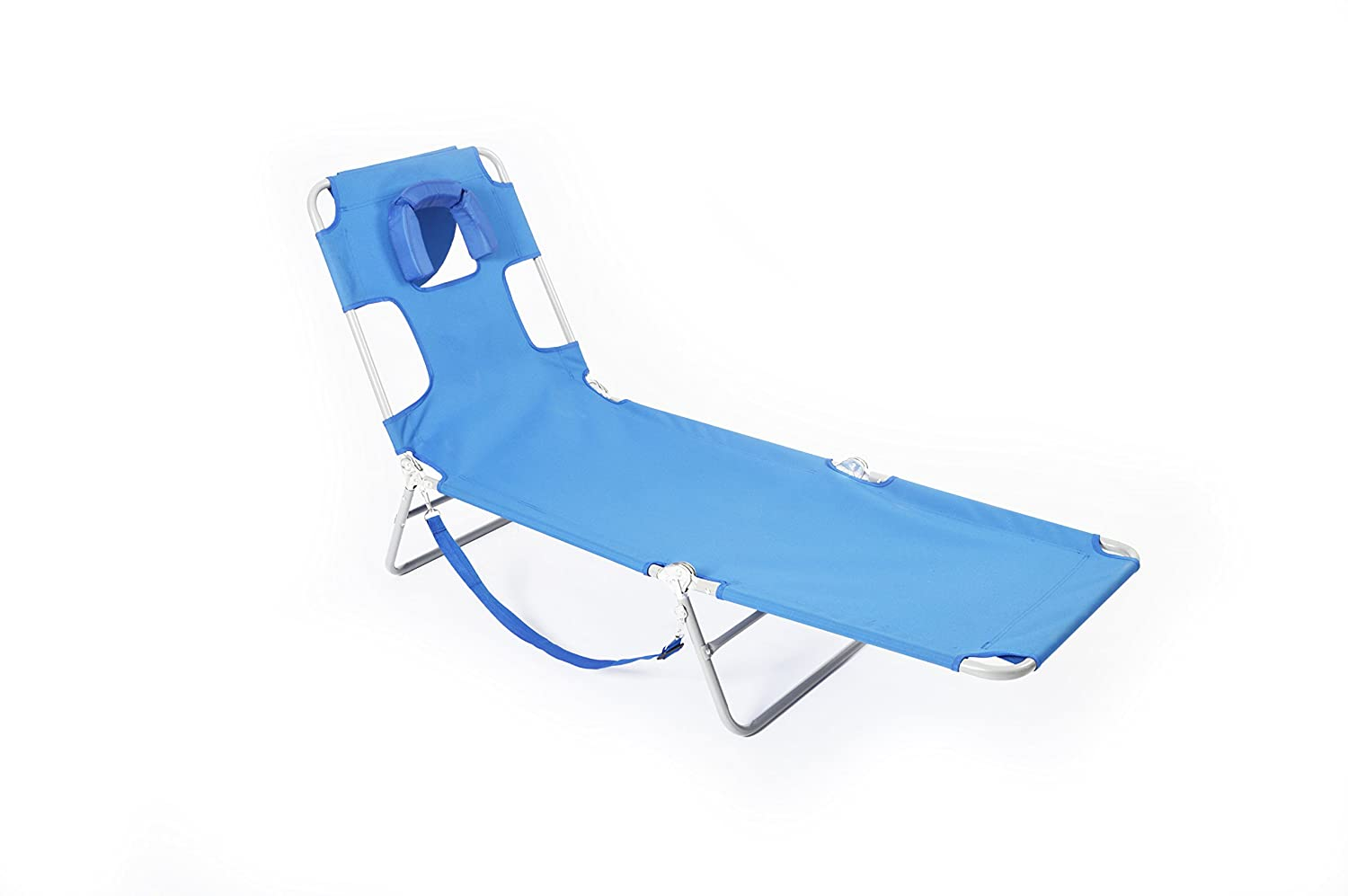 Ostrich lounge chaise blue outdoor patio folding chair for Blue outdoor chaise lounge