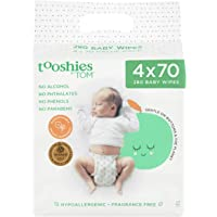 Tooshies by TOM Fragrance Free 70 Pure Baby Wipes 4 Pack, 280 count