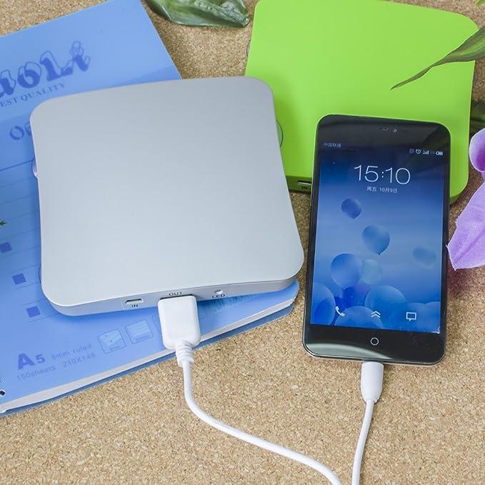 Amazon.com: Solar portátil cargador de teléfono celular 5200 ...