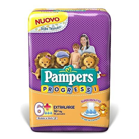 Pampers - Progressi - Talla 6+ (16+ kg) - 18 pañales