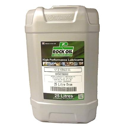 Rock Oil - Aceite hidráulico ISO 32 25 litros 5 gallon: Amazon.es ...