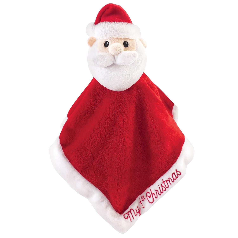 Hudson Baby Unisex Baby Animal Face Security Blanket, Santa, One Size