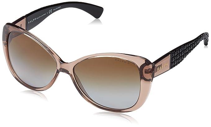 e89ada07ecf1 Ralph Lauren Purple Label Women's 0RA5180 1031T5 Sunglasses,  Brown/Browngradientpolar, ...