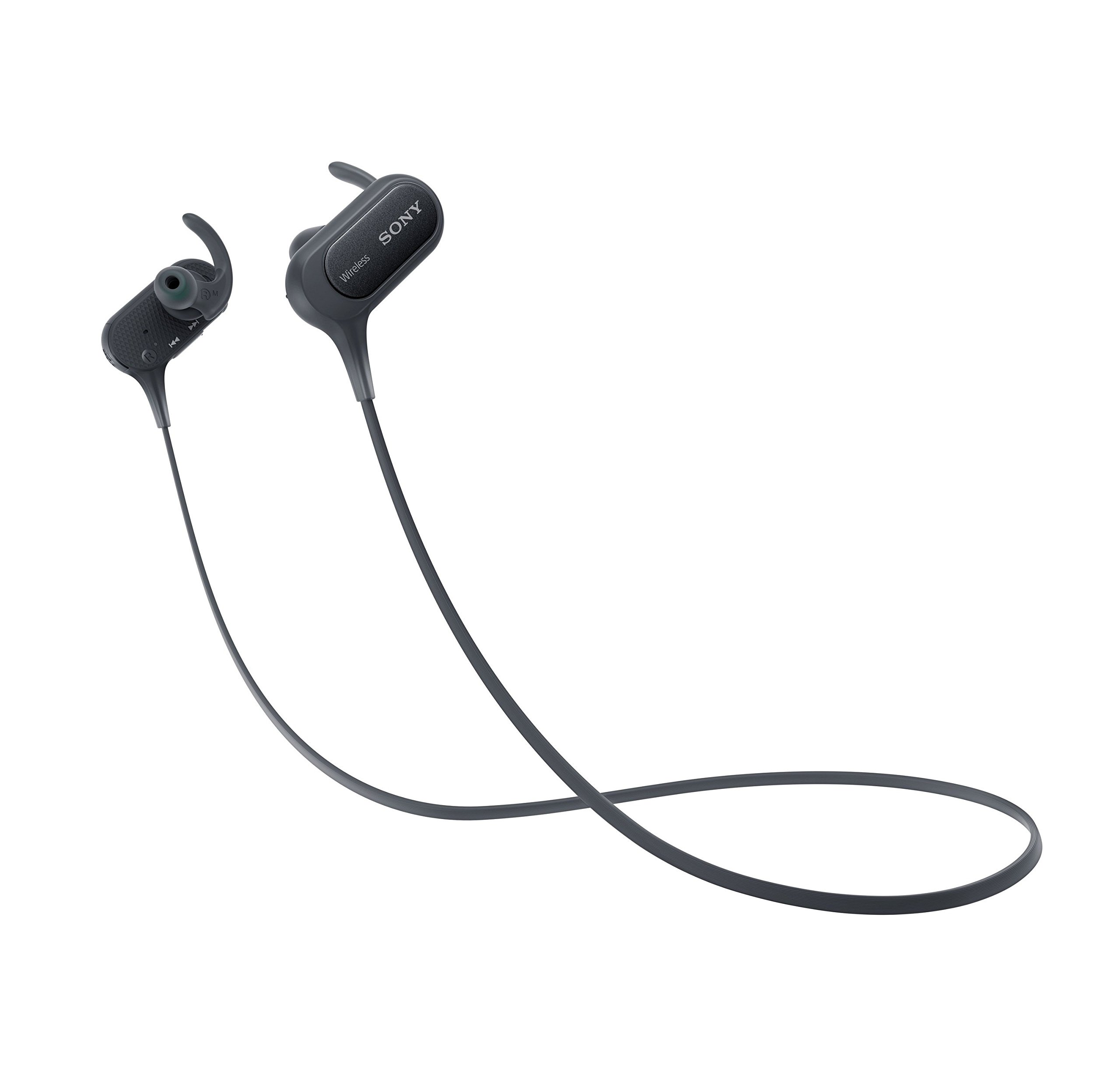 Sony Extra Bass Bluetooth Headphones, Best Wireless Sports Earbuds with Mic/ Microphone, IPX4 Splashproof Stereo Comfort Gym Running Workout up to 8.5 hour battery, black
