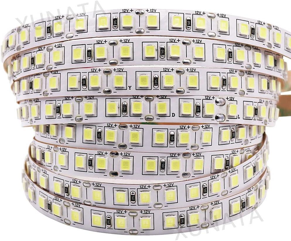 SMD 5050 5054 4040 5630 LED Tira 120leds / M 5M Super brillante No impermeable IP20 LED Luz de tira 12V Frío Cálido Blanco (Color : Warm White)