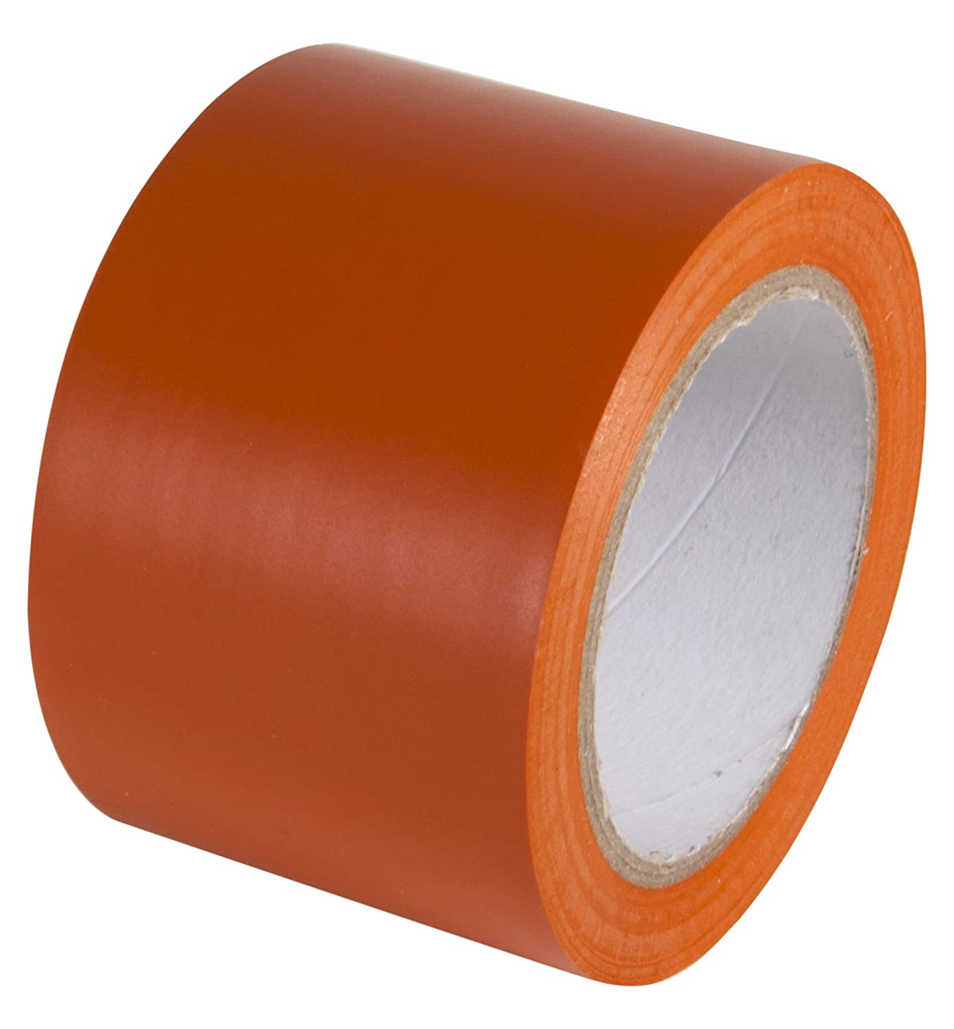 4 x 108 Floors INCOM Manufacturing: Vinyl Aisle Marking Conformable Tape Equipment Safety Orange- Ideal for Walls