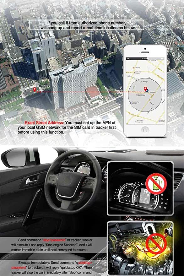 Vehicle Car Motorcycle Personal GPS/GSM/GPRS/SMS Tracker, Tracking Device System 303G, Waterproof, Quad Band, Real-time, Remote Control, Google Map