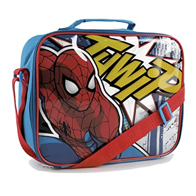 IMTD Boys Disney Marvel Spiderman Superhero Design Lunchbag Lunch Bag Back  to School Insulated Bag Spiderman 35cf2a855c07a