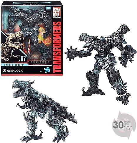 Transformers Studio Series - Robot líder Grimlock Dinosaurio, 25 cm, Juguete transformable 2 en 1, E0773, Multicolor: Amazon.es: Juguetes y juegos